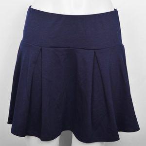 Delia's Navy Blue Pleated Mini Skirt (L)